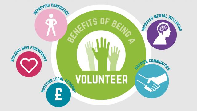 benefits of volunteering infographic